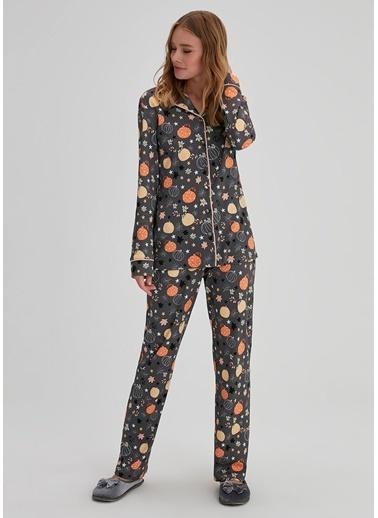 Dagi Pijama Takım Antrasit